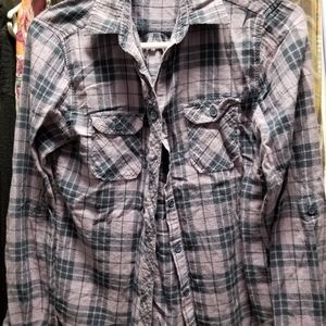 BDG purple flannel button-down (Urban Outfitters)
